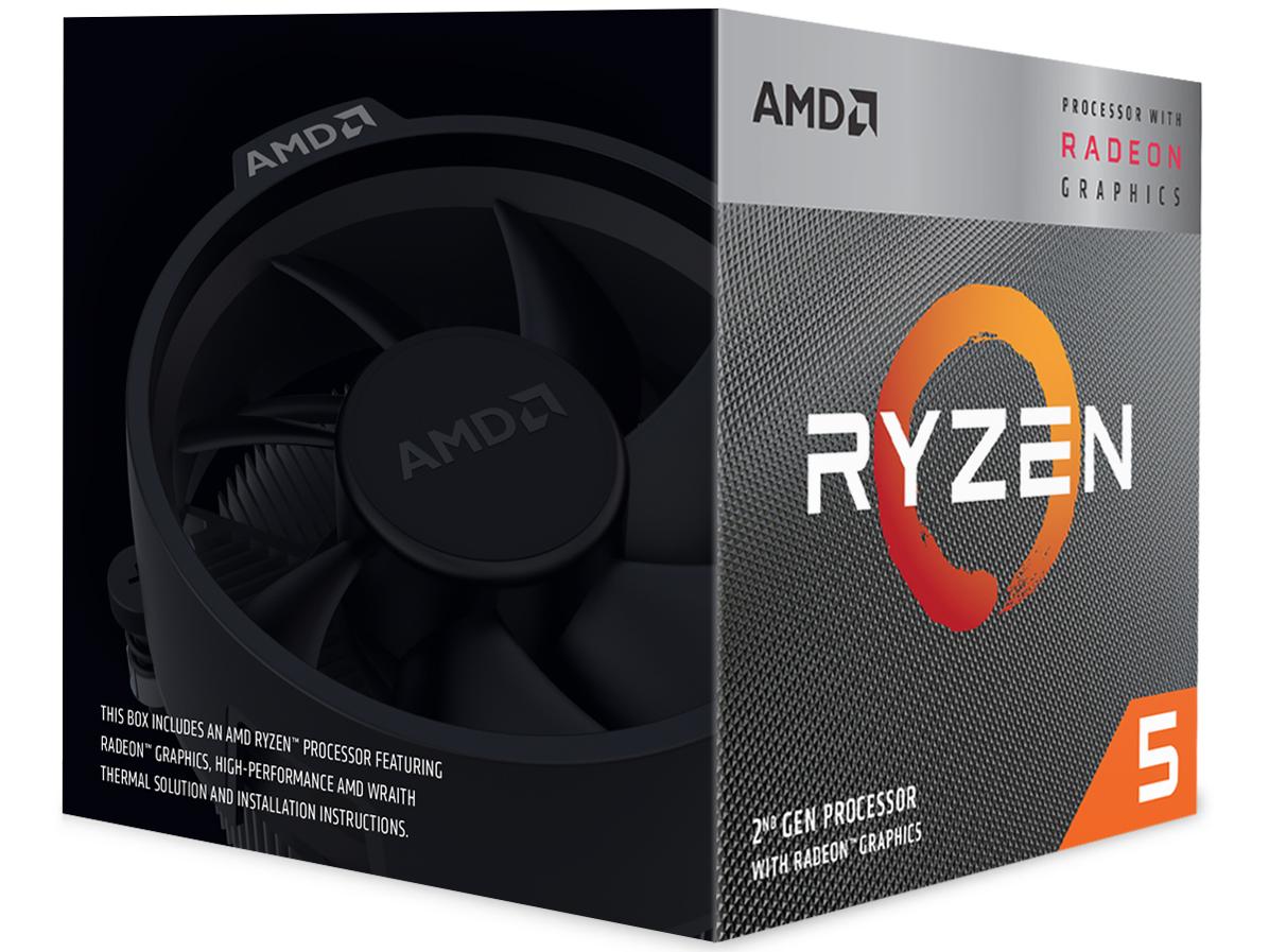 『パッケージ1』 Ryzen 5 3400G BOX の製品画像