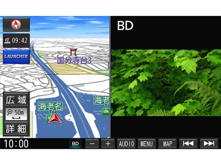 『ルート画面1』 ストラーダ F1X PREMIUM10 CN-F1X10BD の製品画像