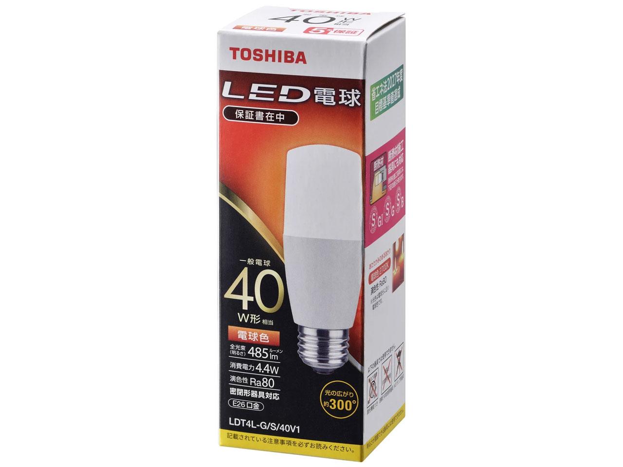 LDT4L-G/S/40V1 [電球色] の製品画像