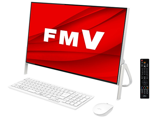 FMV ESPRIMO FHシリーズ FH77/D3 KC_WF1D3_A032 Core i7・TV機能・メモリ8GB・SSD 256GB+HDD 1TB・Blu-ray・Office搭載モデル [ホワイト]
