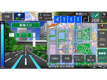 『ルート画面1』 彩速ナビ MDV-M907HDF の製品画像