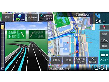 『ルート画面3』 彩速ナビ MDV-M907HDF の製品画像