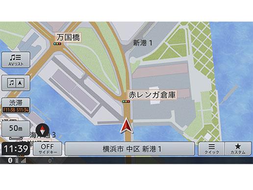 『ルート画面2』 楽ナビ AVIC-RZ511 の製品画像