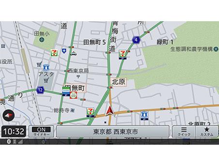 『ルート画面4』 楽ナビ AVIC-RZ511 の製品画像