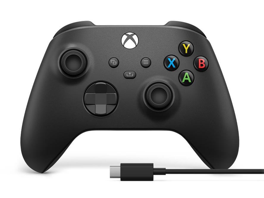 Xbox ワイヤレス コントローラー + USB-C ケーブル 1V8-00005 [カーボン ブラック]