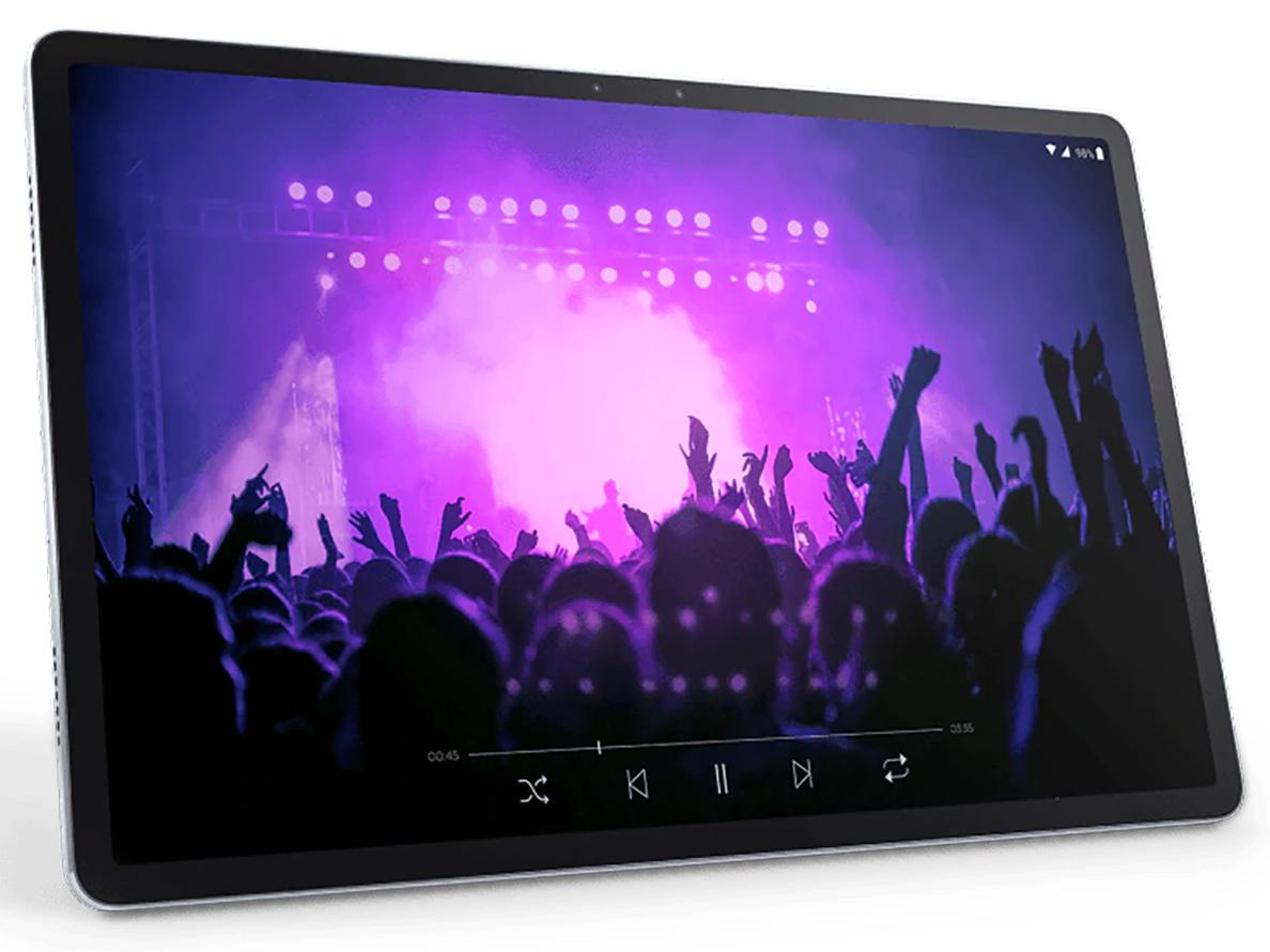 『本体 斜め』 Lenovo Tab P11 Pro Qualcomm Snapdragon 730G・6GBメモリー・128GBフラッシュメモリー搭載 ZA7C0050JP の製品画像