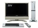 インターネットAQUOS 20-Dタイプ (テレビ部 LD-20SP3 パソコン部 PC-AX100M) 製品画像
