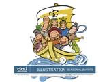 写真素材 DAJ digital images 181 ILLUSTRATION SEASONAL EVENTS [イラストシリーズ〜日本の行事、風物]