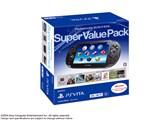 PlayStation Vita (プレイステーション ヴィータ) Super Value Pack 3G/Wi-Fiモデル PCHJ-10019 [クリスタル・ブラック] 製品画像
