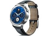 Huawei Watch W1 Classic leather [シルバー/ブラックレザーバンド] 製品画像