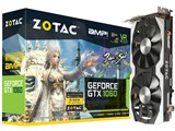 ZOTAC GeForce GTX 1060 AMP Edition ブレイドアンドソウル推奨モデル ZT-P10600J-10J [PCIExp 6GB] 製品画像