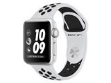 Apple Watch Nike+ Series 3 GPSモデル 38mm MQKX2J/A [ピュアプラチナ/ブラックNikeスポーツバンド] 製品画像