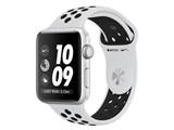 Apple Watch Nike+ Series 3 GPSモデル 42mm MQL32J/A [ピュアプラチナ/ブラックNikeスポーツバンド] 製品画像
