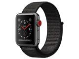 Apple Watch Series 3 GPS+Cellularモデル 38mm MRQG2J/A [ブラックスポーツループ] 製品画像