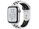 Apple Watch Nike+ Series 4 GPSモデル 44mm MU6K2J/A [ピュアプラチナム/ブラックNikeスポーツバンド] 製品画像