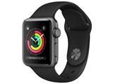 Apple Watch Series 3 GPSモデル 38mm MTF02J/A [ブラックスポーツバンド] 製品画像