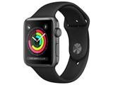 Apple Watch Series 3 GPSモデル 42mm MTF32J/A [ブラックスポーツバンド] 製品画像