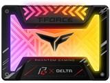 T-FORCE DELTA Phantom Gaming RGB SSD (5V) T253PG500G3C313 [ブラック]