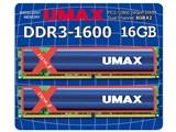 UM-DDR3D-1600-16GBHS [DDR3 PC3-12800 8GB 2枚組] 製品画像