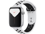 Apple Watch Nike Series 5 GPSモデル 44mm MX3V2J/A [ピュアプラチナム/ブラックNikeスポーツバンド] 製品画像