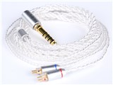 Silver Plated Cable IEM 2pin AZL-SLV-CABLE-2PIN-4.4 4.4mmバランス(5極)⇔専用端子 [1.2m]
