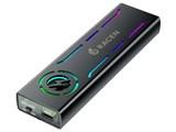 RACEN LED & FAN M.2 NVMe USB3.2 Gen2 ケース CRC-LFM2NU32 [ブラック] 製品画像