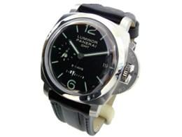 PAM00233 1950 ルミノール 8デイズ GMT 手巻き(ブラック)