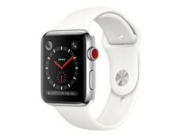 Apple Watch Series 3 GPS+Cellularモデル 42mm ステンレススチールケース/スポーツバンド