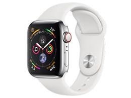 Apple Watch Series 4 GPS+Cellularモデル 40mm ステンレススチールケース/スポーツバンド
