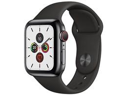 Apple Watch Series 5 GPS+Cellularモデル 40mm ステンレススチールケース/スポーツバンド