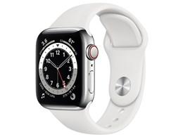 Apple Watch Series 6 GPS+Cellularモデル 40mm ステンレススチールケース/スポーツバンド