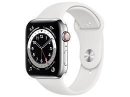 Apple Watch Series 6 GPS+Cellularモデル 44mm ステンレススチールケース/スポーツバンド