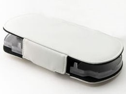 CYBER・レザーカバー (PSP2000/3000用) ホワイト CY-PP3LCV-WH