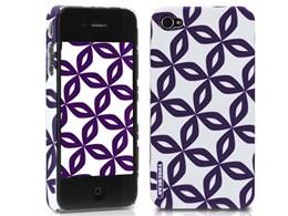 eggshell Finlandia Series for iPhone 4G - Sade TUN-PH-000053 [パープル]
