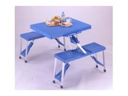 アルミピクニックテーブル M-8421 [ブルー]