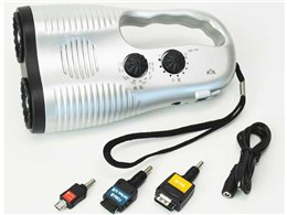 ツインラジオライト携帯電話充電機能付 36522