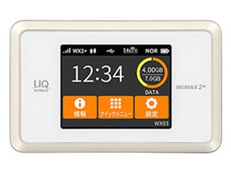 Speed Wi-Fi NEXT WX03 [ホワイトゴールド]