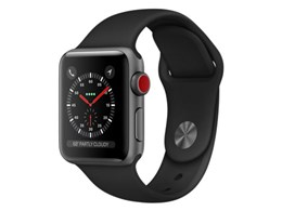 Apple Watch Series 3 GPS+Cellularモデル 38mm MQKG2J/A [ブラックスポーツバンド]
