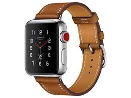 Apple Watch Hermes Series 3 GPS+Cellularモデル 38mm シンプルトゥール MQMP2J/A [ヴォー・バレニア(フォーヴ)レザーストラップ]