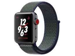 Apple Watch Nike+ Series 3 GPS+Cellularモデル 38mm MQMD2J/A [ミッドナイトフォグNikeスポーツループ]