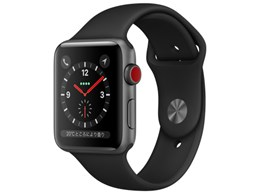 Apple Watch Series 3 GPS+Cellularモデル 42mm MTH22J/A [ブラックスポーツバンド]