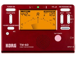 COMBO TUNER METRONOME TM-60 RD [レッド]