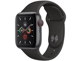 Apple Watch Series 5 GPS+Cellularモデル 40mm MWX32J/A [ブラックスポーツバンド]