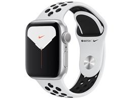 Apple Watch Nike Series 5 GPSモデル 40mm MX3R2J/A [ピュアプラチナム/ブラックNikeスポーツバンド]