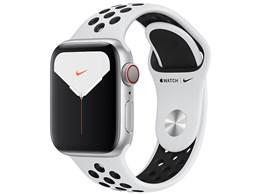 Apple Watch Nike Series 5 GPS+Cellularモデル 40mm MX3C2J/A [ピュアプラチナム/ブラックNikeスポーツバンド]