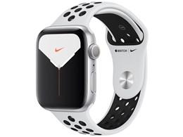 Apple Watch Nike Series 5 GPSモデル 44mm MX3V2J/A [ピュアプラチナム/ブラックNikeスポーツバンド]