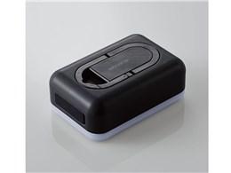 防災LED付 モバイルバッテリ 平型 DE-M21L-6700BK [ブラック]