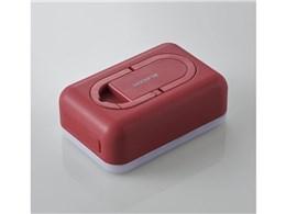 防災LED付 モバイルバッテリ 平型 DE-M21L-6700RD [レッド]