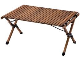AND・DECO ウッドテーブル 90cm×60cm qmt02 [ブラウン]