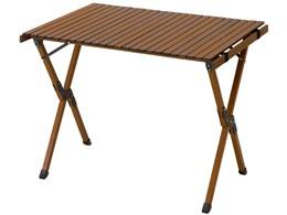 AND・DECO ウッドハイテーブル 90cm×60cm qmt03 [ブラウン]